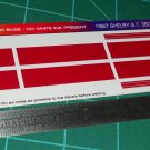 1967 Shelby GT-350 Ford Mustang Decal Set  Red