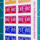 Michigan License Plate Set 1:12 Scale
