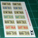 Texas License Plate Set 1:12 Scale