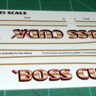 BOSS Cuda 1969 Decal Set 1:25 Scale