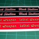 Black Stallion / Lethal Weapon Monster Truck Decal Set 1:25 Scale