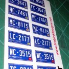 Connecticut License Plate Set 1:12 Scale