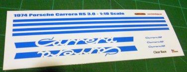 1974 Porsche Carrera RS 3.0 - Blue 1:18 Scale