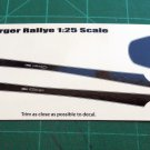 1973 Dodge Charger Rallye Decal Set 1:25 - Black