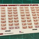 Hazzard County License Plate Set