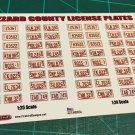 Hazzard County License Plate Set