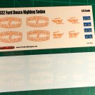 Eastwood & Barakat 32 Ford Street Rod Decal Set 1:25 Scale