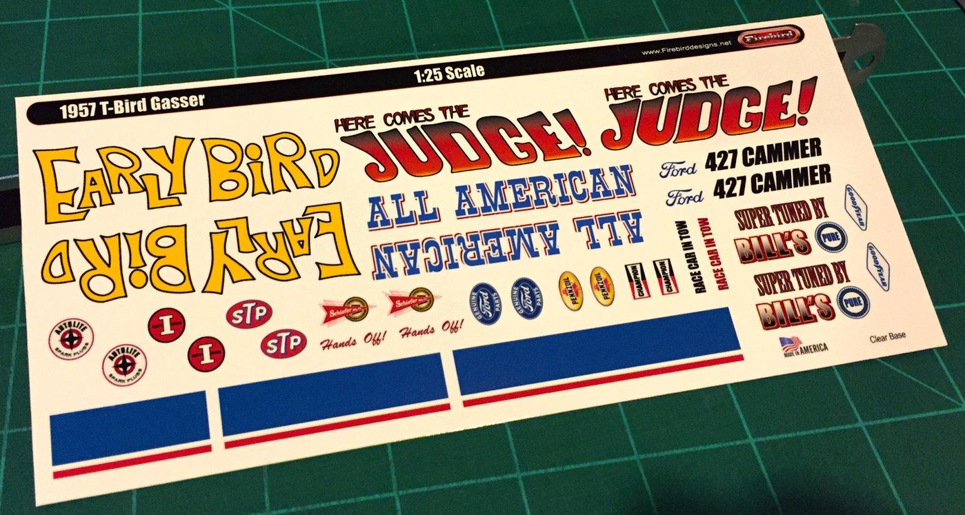 1957 T Bird Gasser Decal Set 1 25