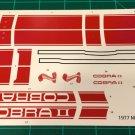 1977 Mustang Cobra II - Red 1:16 Scale