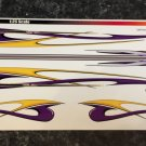 Dragster/Rail Purple-Yellow themed decals 1:25 scale