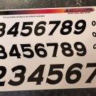 Racing Numbers - Black