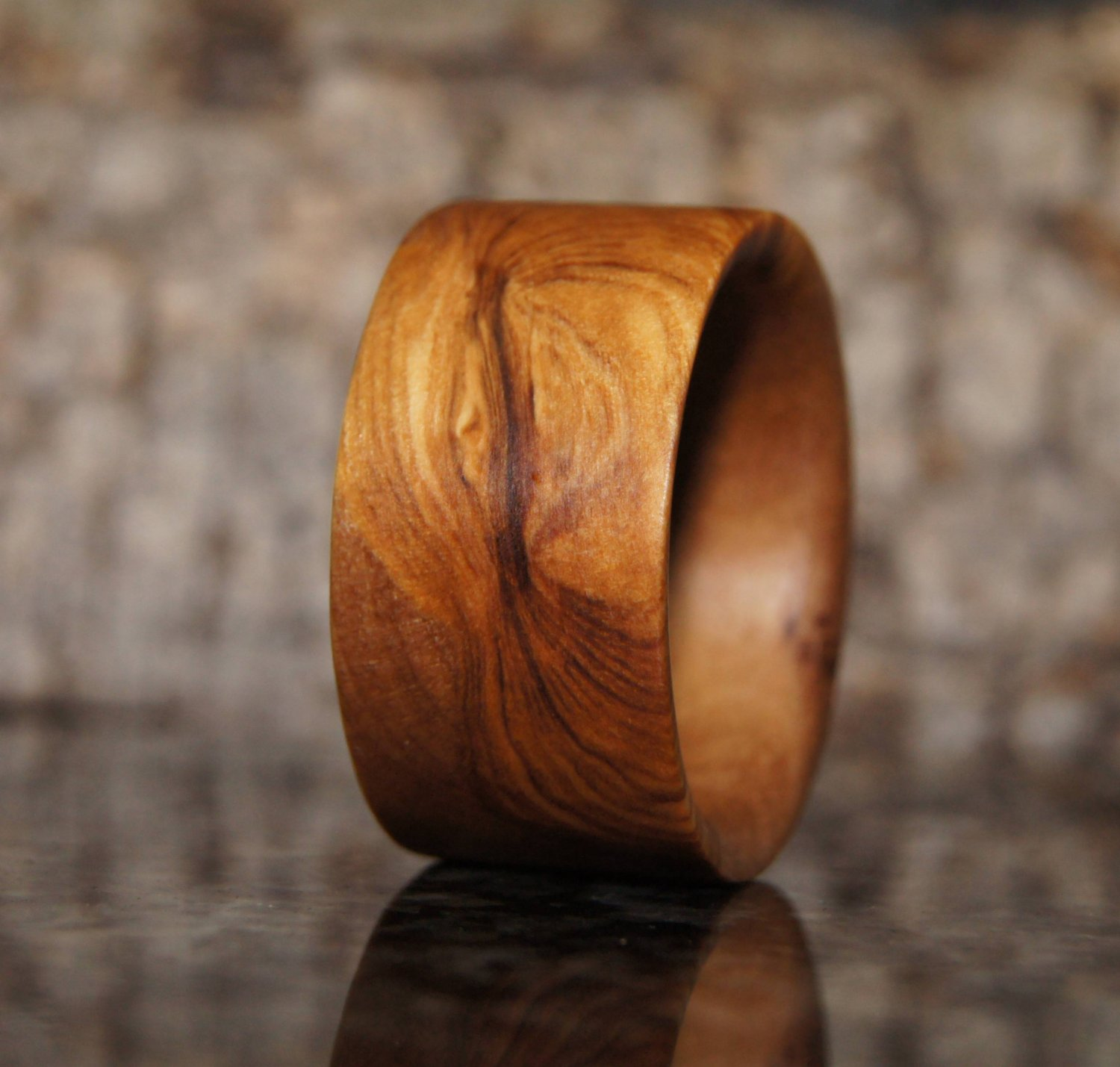 Wood Ring Size 10 1/2 - olive wood ring