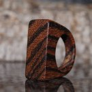 Zebra Wood Ring, US  Size 7