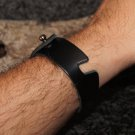Smartphone Bracelet and Stand in Black Leather