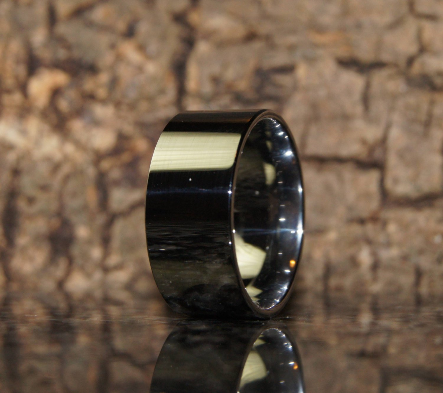 Tungsten ring - Size 11 - comfort fit - only 1,5 mm thick !