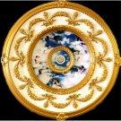 "Blue With White Cloud-Cherubs Ceiling Medallion 31.5"""