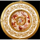 White and Gold with Pink Sherubs Ceiling Medallions Decor 31.5""