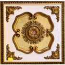 """Gold With Gold Floral Ceiling Medallion Square 39""""x39"""" New Home Decor"""