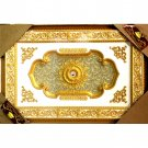 "Unique Gold Petals Ceiling Medallion High Quality Rectangular 47""x71"""