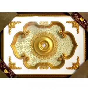 "Gold Floral Ceiling Medallion Home Decor High Quality Rectangular 47""x63"""