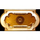 """51""""x94"""" Ceiling Medallion Rectangular with Gold Leaves"""