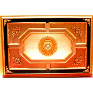 """Black Gold with Light Floral Ceiling Medallion 47""""x71"""""""