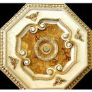 """Unique White with Gold Foil insert Ceiling Medallion Octagonal 22"""""""