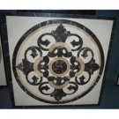 "Home Decor Waterjet Cut Marble Floor/Wall Medallion Square 36"" Granite Back"