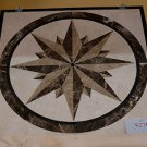 "Home Decor Waterjet Cut Marble Floor/Wall Medallion Square 24"" Granite Back"