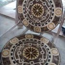 "Home Decor Waterjet Cut Marble Floor/Wall Medallion Round 36"" Granite Back"