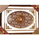 "Unique Oval Red With Gold Floral insert Ceiling Medallion Rectangular 47""x63"""