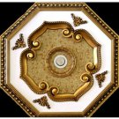 Unique White with Gold  insert Ceiling Medallion Octagonal 22""