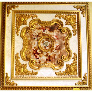 Red Cherubs Ceiling Medallion Square 39