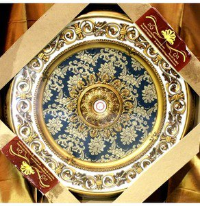 """Green with Gold Ceiling Medallion Round Circle 43"""" New Home Decor"""