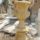 "Pair of Travertine Marble Urns Planter 55"""
