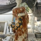 Lady In Chicken Blood Red and White Marble Statue 71""