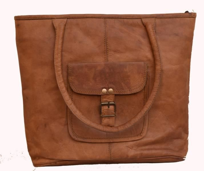 Classic Original Handmade Leather Bag, Unisex Woman Ladies Handbag Carry Bag#161
