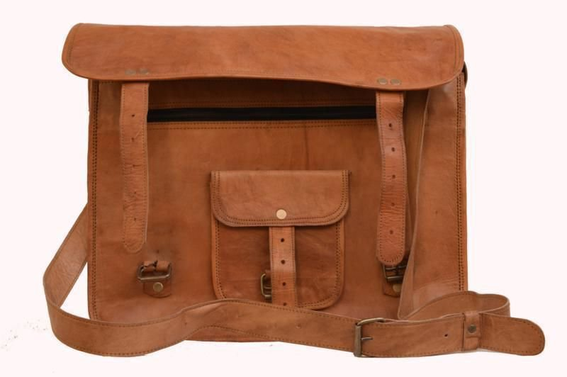Retro Original Handmade Leather Bag,Unisex Laptop Messenger Laptop Bags #150