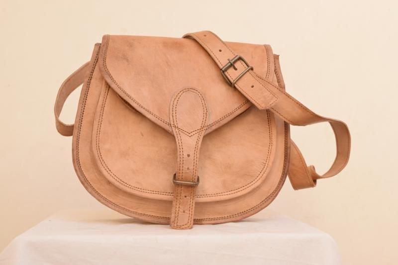 Retro Original Handmade Leather Bag, Ladies Girls Purse Unique Bags Indian #149