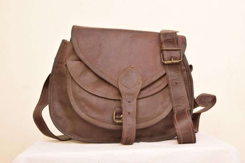 Retro Original Handmade Animal Leather Bag, Woman Girls Purse Pure Leather #143