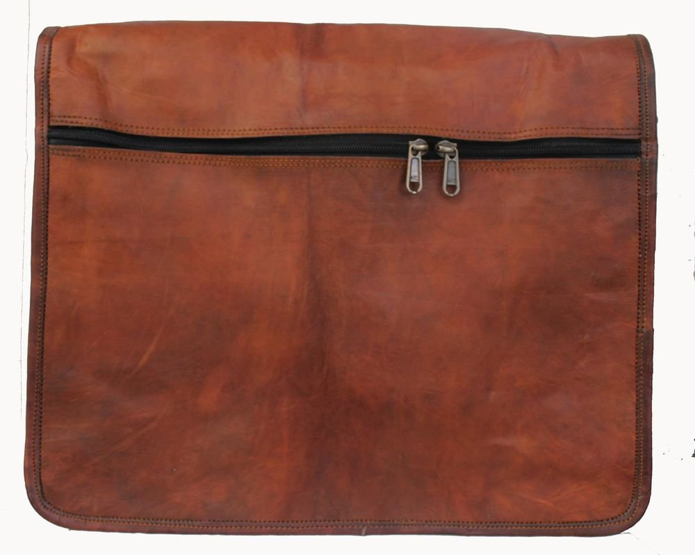 "15"" Stylish Handmade Real Leather Bag, Brown Laptop Corporate Office Bags #172"