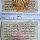 Original Antique Manuscript Old Jain Cosmology New Hand Painting Rare India #565