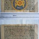 Rare Original Antique Old Manuscript Jain Cosmology New Hand Painting India#657