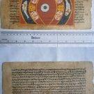 Rare Original Antique Old Manuscript Jain Cosmology New Hand Painting India#633