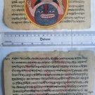 Original Antique Old Manuscript Indian Cosmology New Hand Painting Rare #583