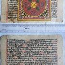 Original Antique Manuscript Old Jain Cosmology New Hand Painting Rare India #554