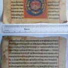 Original Antique Old Manuscript Jainism Cosmology New Hand Painting Rare #619