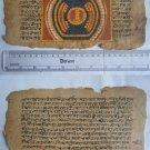 Original Antique Old Manuscript Jainism Cosmology New Hand Painting Rare #618