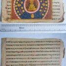 Original Antique Old Manuscript Jainism Cosmology New Hand Painting Rare #626