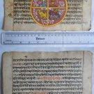 Original Antique Old Manuscript Indian Cosmology New Hand Painting Rare #593